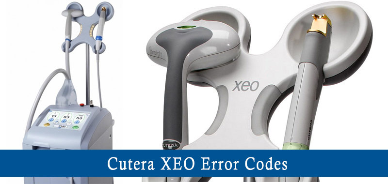 cutera xeo error codes