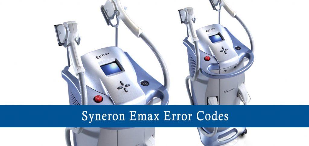 syneron emax error codes